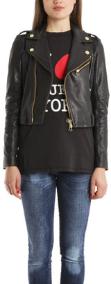 Balmain Pierre Stud Leather Jacket