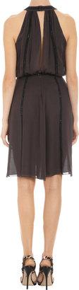 L'Agence Studded Halter Dress