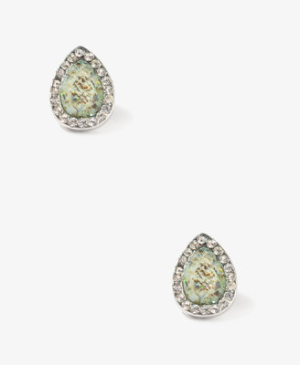 Forever 21 Faux Marble Teardrop Studs