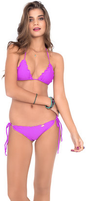 Luli Fama - Cosita Buena Wavey Triangle Top In Purple Ocean $72 thestylecure.com
