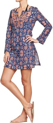 Old Navy Women's Embroidered Gauze Cover-Ups
