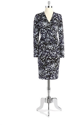 Anne Klein Printed Wrap Dress