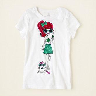 Children's Place Irish girl graphic tee