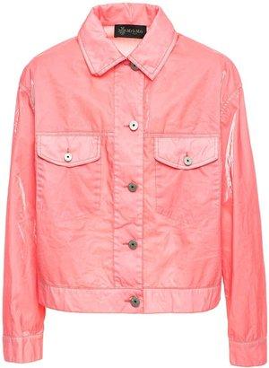 Mr & Mrs Italy Cotton Velvet Tech Short Jacket For Woman
