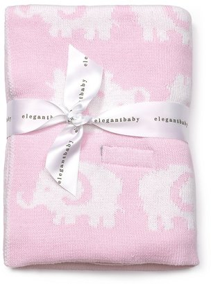 Elegant Baby Elephant Sweaterknit Blanket