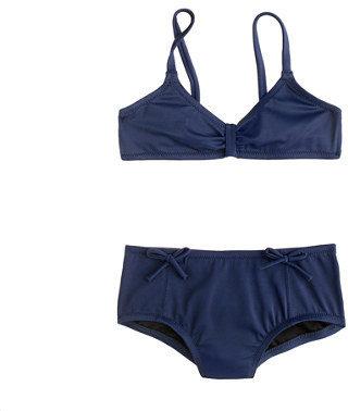 Alldressedup Girls' bikini set in bows