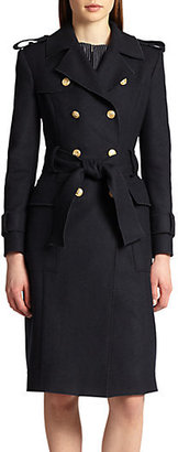 Thom Browne Melton Wool Trench