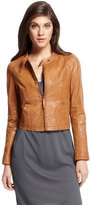 HUGO BOSS 'Jelma'   Leather Jacket by BOSS Orange
