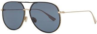 Christian Dior DiorByDior Pale Gold-tone Aviator Sunglasses