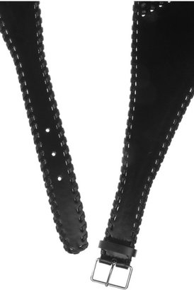 Alaia Leather lace-up corset belt
