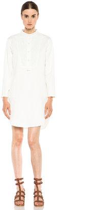 Band Of Outsiders Denim Shirt Dress in White