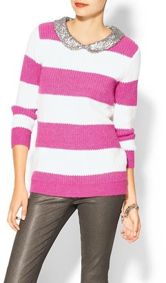 Pim + Larkin Sequin Collar Rugby Sweater