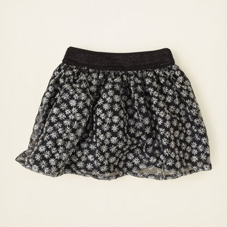 Children's Place Embroidered shine skirt