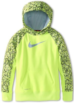 Nike KO 2.0 OTH AOP Hoodie (Little Kids/Big Kids) (Pink Force/Light Armory Blue/Light Armory Blue) - Apparel