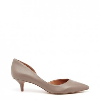 Sole Society Bravely leather d'orsay kitten heel