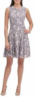 Tommy Hilfiger Foliage Lace Fit--Flare Dress