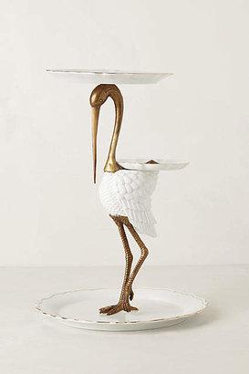 Anthropologie Tiered Crane Sculpture