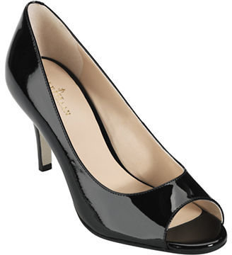 Cole Haan Lainey Patent Leather Open Toe Pumps