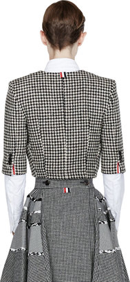 Thom Browne Black Houndstooth Cropped Chesterfield Jacket