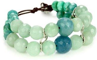 MINU Jewels Green Leather Bracelet