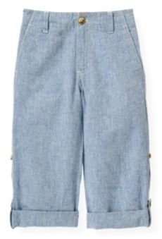 Janie and Jack Linen Blend Roll Cuff Pant