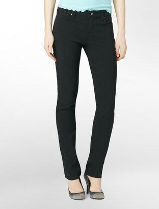 Calvin Klein Jeans Straight-Leg Colored Faille Pants