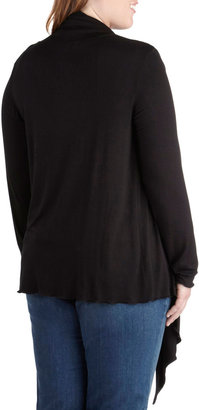 Fireside Flutter Cardigan in Black - Plus Size