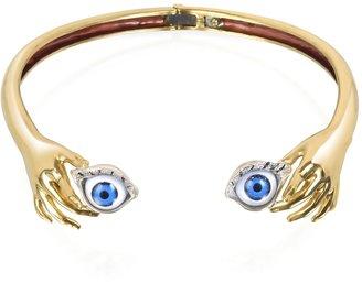 Forzieri Bernard Delettrez Brass Hand Necklace With Eye