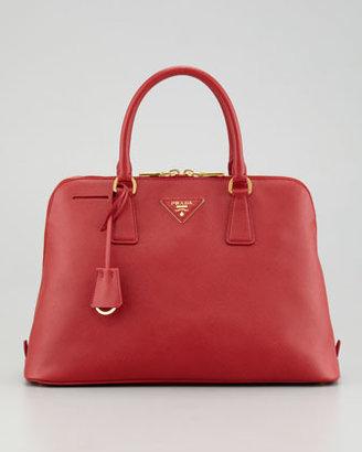 Prada Saffiano Promenade Lux Handbag, Red