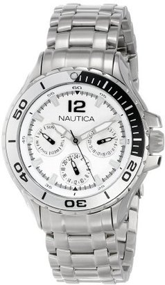 Nautica N21561M NST 02 Mid Classic Two-Tone Enamel Bezel Stainless Steel Watch $86.99 thestylecure.com