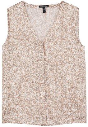 Eileen Fisher Printed Silk-blend Top