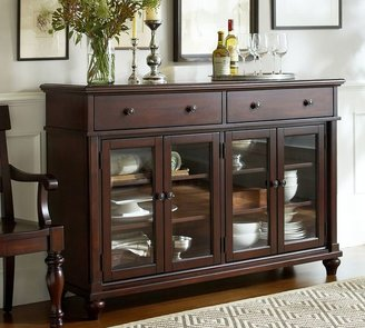 Pottery Barn Lawton Glass Door Buffet