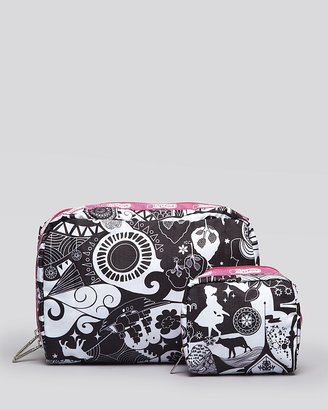 Le Sport Sac Cosmetic Pouch Set - Extra Large Combo in Pink Fytle