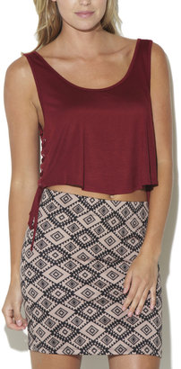 Arden B Lace Up Crop Tank