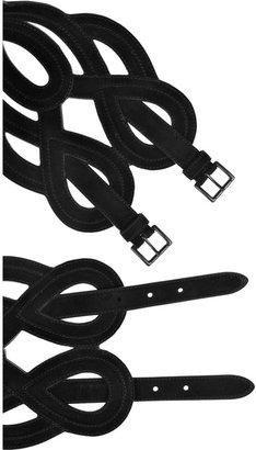 Alaia Cutout suede belt