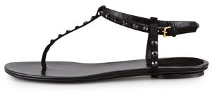 Gucci Yulia Suede and Crystal Thong Sandal