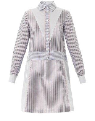 See by Chloe Striped cotton shirt dress