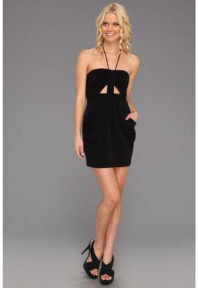 BCBGeneration Gathered Bralet Dress (Black) - Apparel