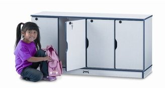 Jonti-Craft Rainbow Accents 2 Tier 4 Wide Locker Size: Single Stack, Color: Blue