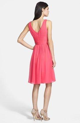 Donna Morgan 'Jessie' Twist Silk Chiffon Dress (Regular & Plus)