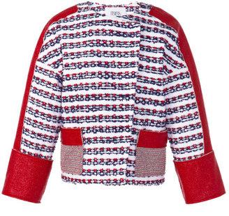 Prabal Gurung Preorder Laminated Tweed Combo Jacket