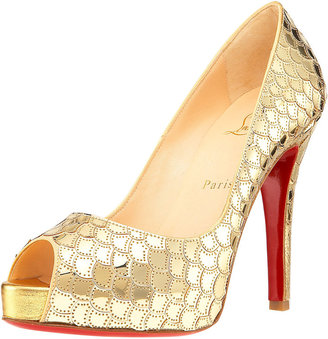 Christian Louboutin Sequin-Scale Very Prive Pump