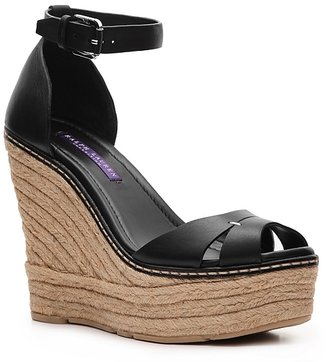 Ralph Lauren Firama Leather Wedge Sandal