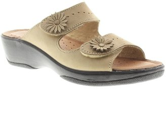 Spring Step Flexus by Faithful Leather Slide Sandals