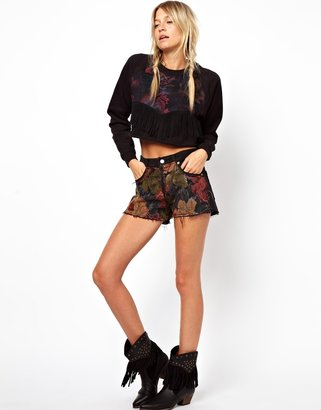 Asos RECLAIMED VINTAGE Levi 501 Shorts in Tapestry Print