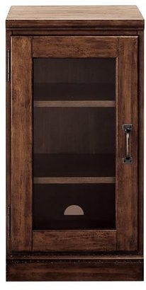 Pottery Barn Printer's Glass Door Cabinet, Tuscan Chestnut