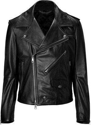Burberry Black Leather Anson Jacket