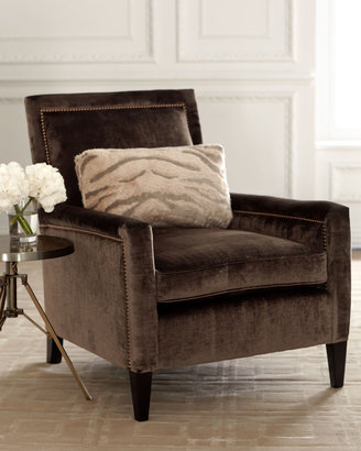 "Old Hickory Tannery Paulina"" Velvet Chair"