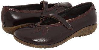 Naot Footwear Nau Mai (Espresso Leather/Wine Patent Leather) - Footwear