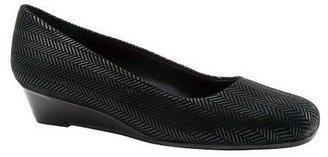 Trotters Leather Wedge Slip-Ons - Lauren